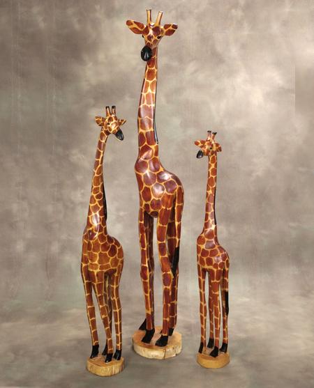 African Sculpture: Giraffe Sculptures